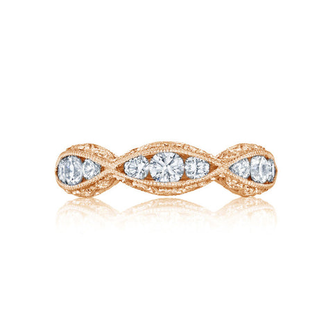 Tacori 18K Rose Gold Halfway 5MM Diamond Wedding Band 2644B12PK