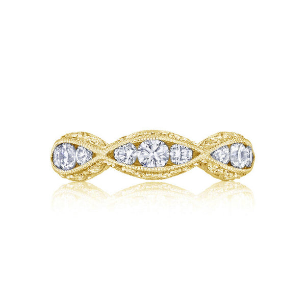 Tacori Classic Crescent 18K Yellow Gold 1/2 Way Band 2644B1/2Y