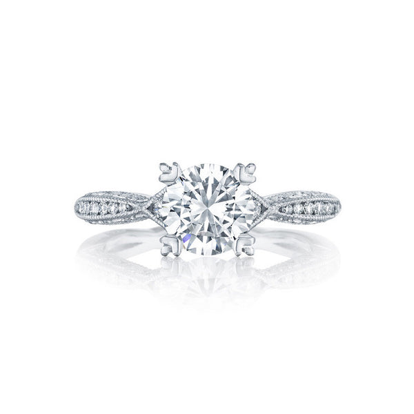 Tacori Platinum Diamond 1/2 Way Engagement Ring 2645RD6512