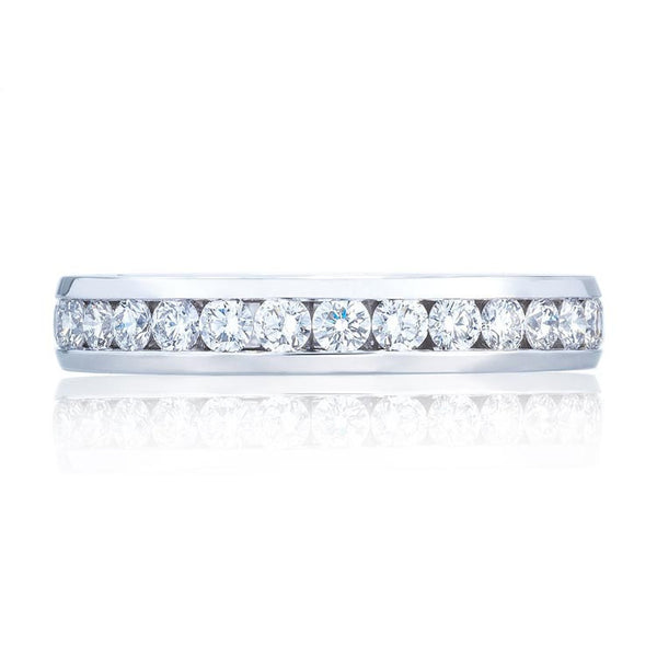 Tacori 18K White Gold Channel Set Diamond Eternity Band 2646-35BW