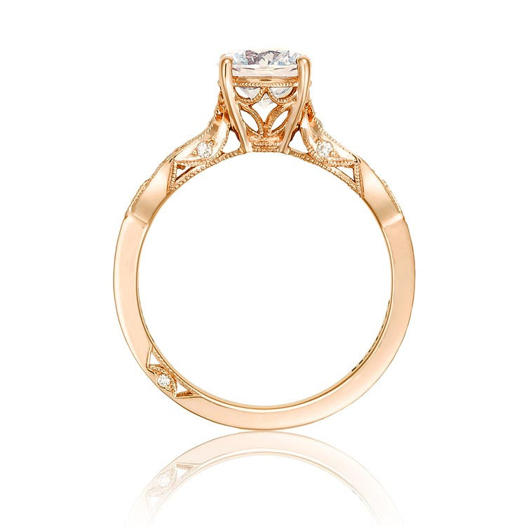 Tacori 18K Rose Gold 1/2 Way Diamond Engagement Ring 2648RD65PK