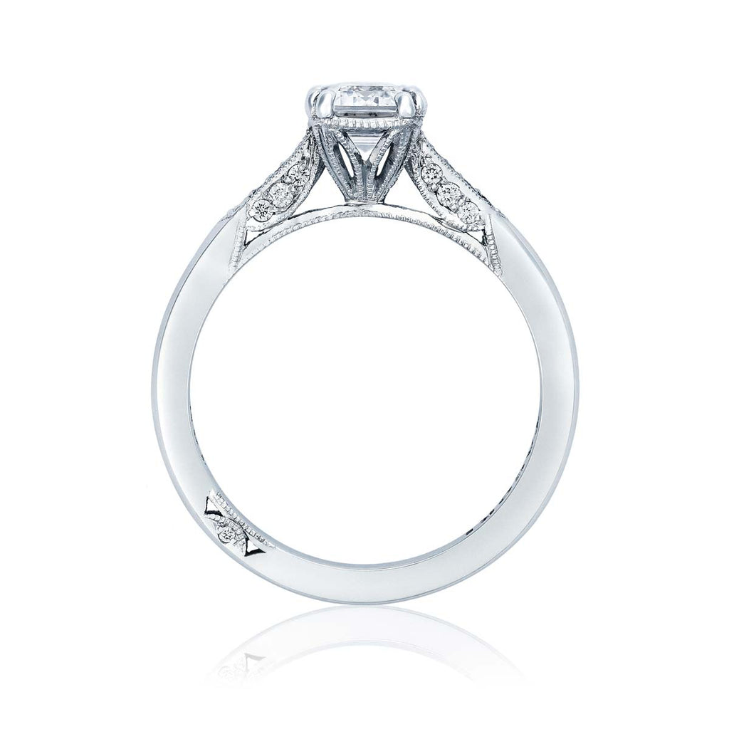 Tacori Solitaire Platinum Emerald Center Engagement Ring 2651EC8.5X6.5