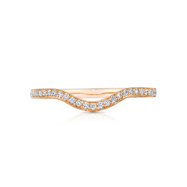 "Tacori Sculpted Crescent Diamond ""RIGHT"" Curved 1/2 Way Solid Band 2664B1/2PK R"