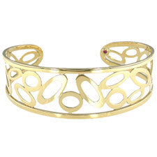 Roberto Coin Chic & Shine Yellow Gold Cuff Bracelet 295444AYBA00