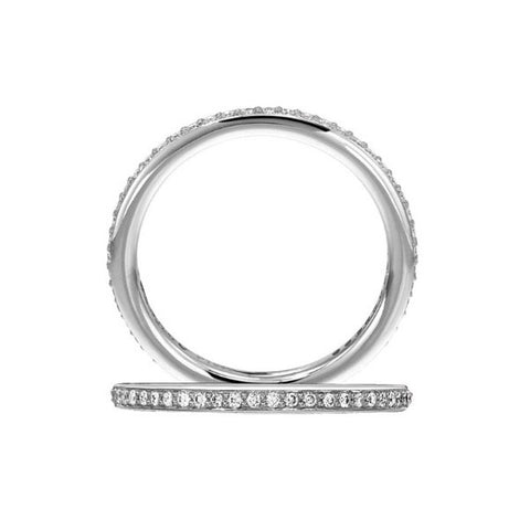 Ritani 18K White Gold Micro-Pave Eternity Diamond Wedding Band 31694AAR
