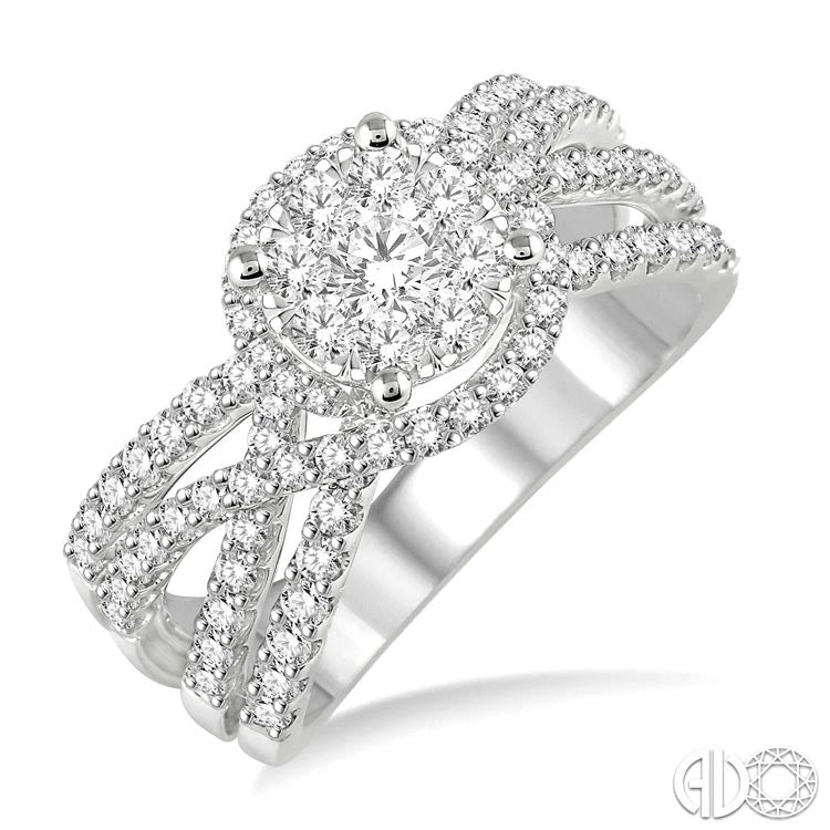 Ashi 14K White Gold Lovebright Diamond Ring 33711FVWG