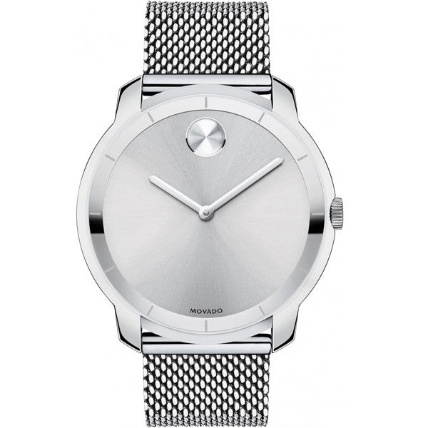 Movado Bold Extra-large 44MM Silver Dial Steel Bracelet Men's Watch 3600260