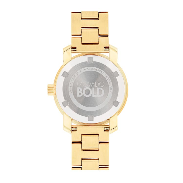 Movado BOLD Yellow Gold Ion-plated Swiss Quartz Women's Watch 3600434
