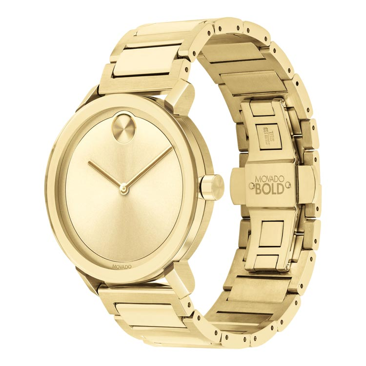 Movado BOLD Evolution 40 mm Pale Gold Ion-Plated Stainless Steel Men's Watch 3600508