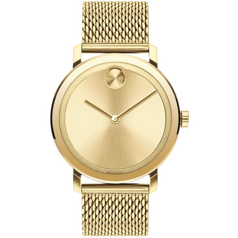 Movado BOLD Evolution Large 40mm Pale Yellow Gold Ion-plated Stainless Steel Men's Watch 3600560