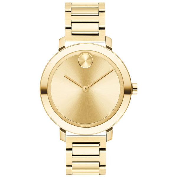 Movado BOLD Evolution 34MM Pale Yellow Gold Ion-Plated Stainless Steel Swis Quartz Women's Watch 3600648