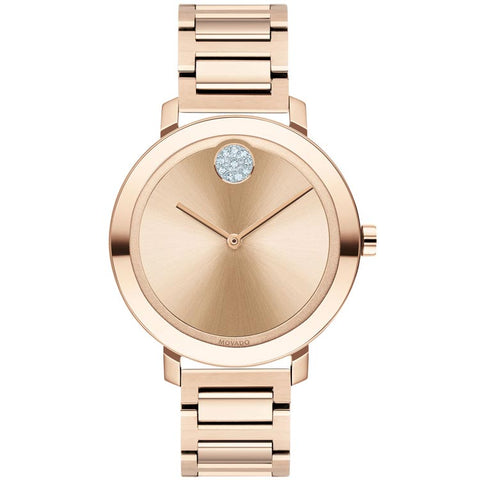 Movado BOLD Evolution 34 mm Pale Rose Gold Ion-plated Quartz Women's Watch 3600650