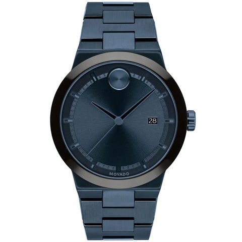 Movado BOLD Fusion 42MM Blue Ion-Plated Stainless Steel Men's Watch 3600661