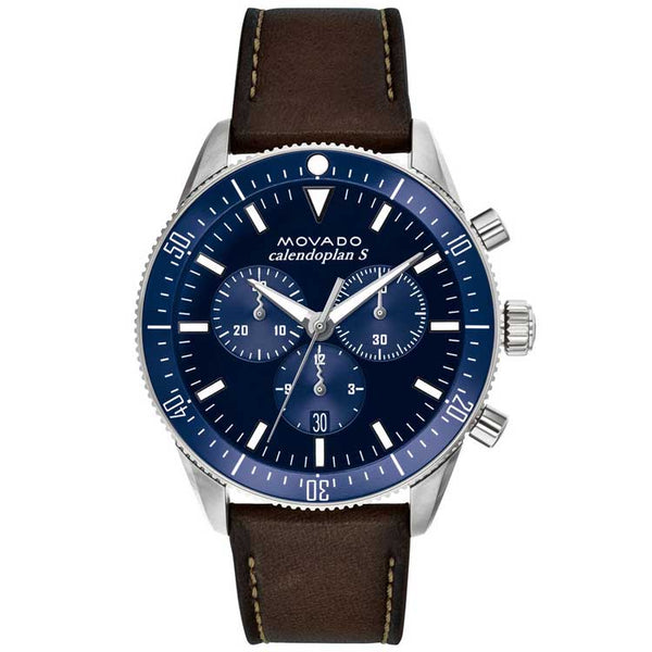 Movado Heritage Series Calendoplan S Swiss Quartz Chronograph Men's Watch 3650061