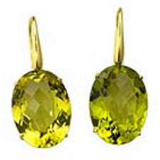 Roberto Coin 18K Yellow Gold Lemon Quartz Earrings 367017AYERLQ