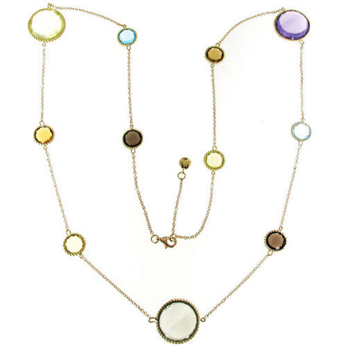 Roberto Coin Ipanema 18K Yellow Gold Semiprecious Stones Chain Necklace 367299AY32J0