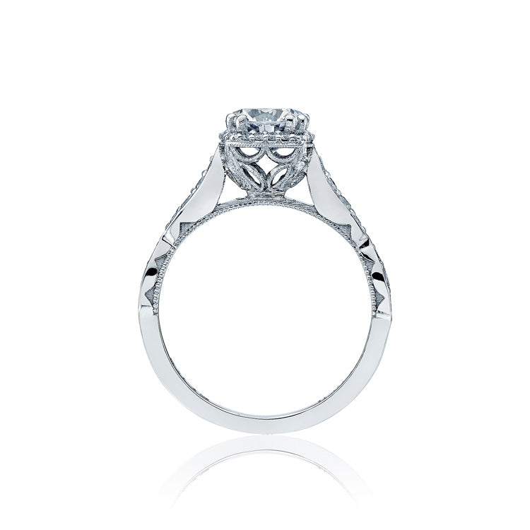 Tacori Dantela 18K White Gold 1/2 Way Diamond Engagement Ring 39-2CU6.5W