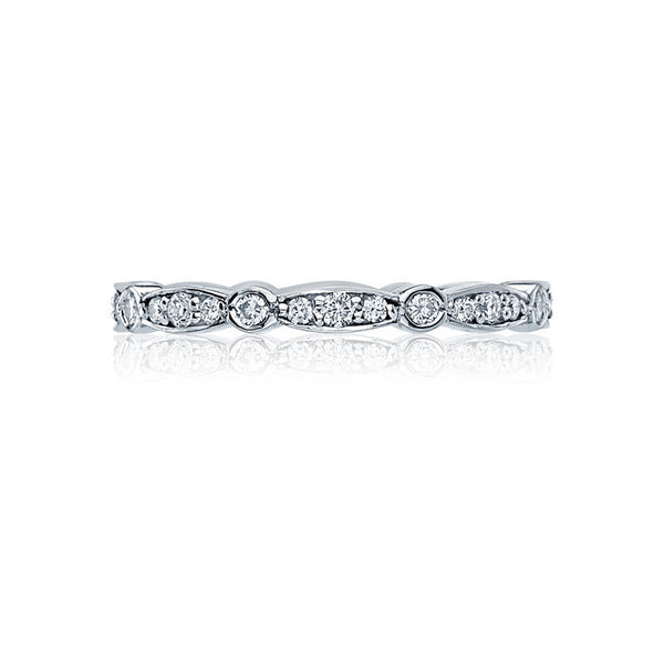 Tacori Sculpted Crescent Platinum Marquise Shape Eternity Band 47-2ET