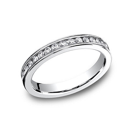 Benchmark 14K White Gold 3MM Eternity Wedding Band 513550