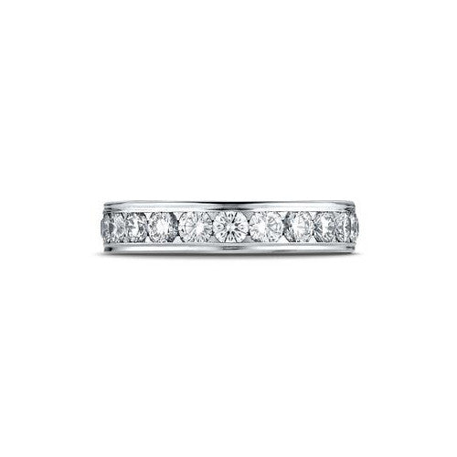 Benchmark 14K White Gold Channel Set Eternity Women's Wedding Band 514548