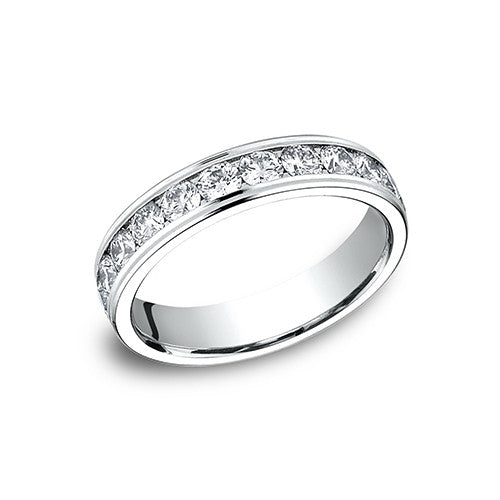6a93cacda0cae Benchmark 14K White Gold Channel Set Eternity Women's Wedding Band 514548