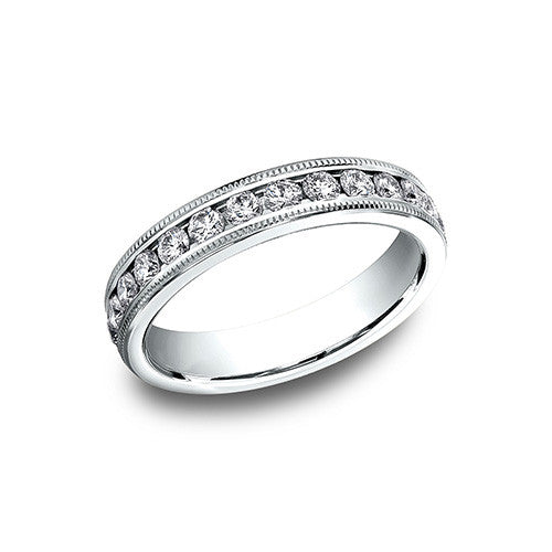 Benchmark Channel Set Milgrain Eternityv Wedding Band 534550