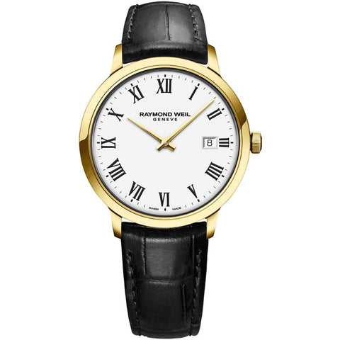 Raymond Weil Toccata Men's Gold-Plated White Dial Quartz Watch 5485-PC-00300