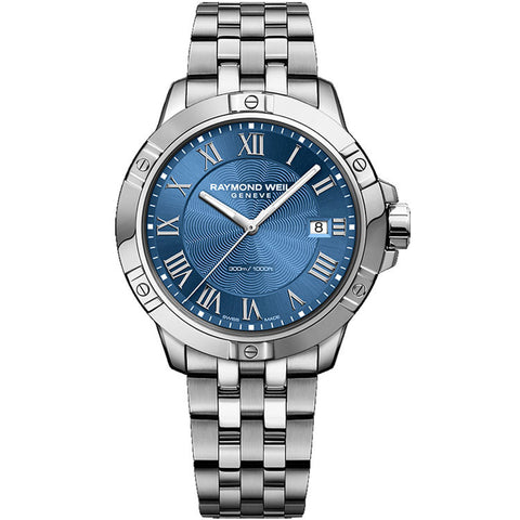 Raymond Weil Men's Tango Blue Dial Steel on Steel Watch 8160-ST-00508