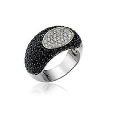 Roberto Coin Capri Plus Black Sapphire & White Diamond Ring 888348AW70BD