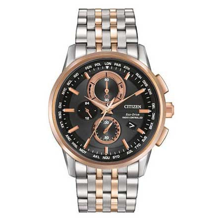 Citizen World Chronograph A-T Two Tone Chronograph Men's Watch AT8116-57E