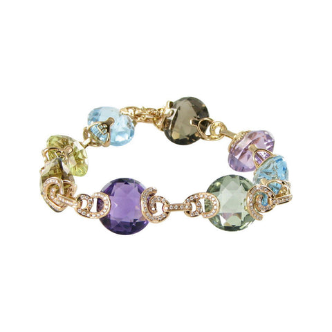 Bellarri 18K Rose Gold Diamonds and Mixed Gems Caberet Bracelet B872PG/M