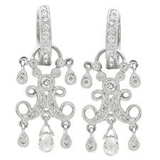 Bijan Fere 18K White Gold Diamond Earrings BF1081-27050