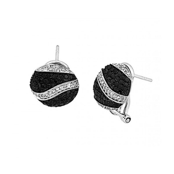 Sandra Biachi Black & White Diamond Earrings BK1915