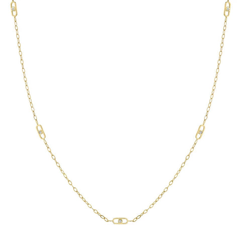 Michael M 14K Yellow Gold Streamlined Necklace CN351S