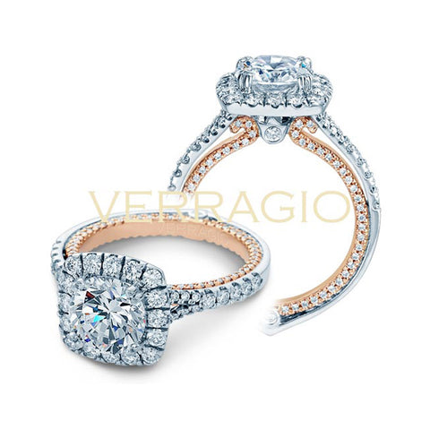 Verragio Couture 18K White & Rose Gold Engagement Ring COUTURE-0434CU-TT