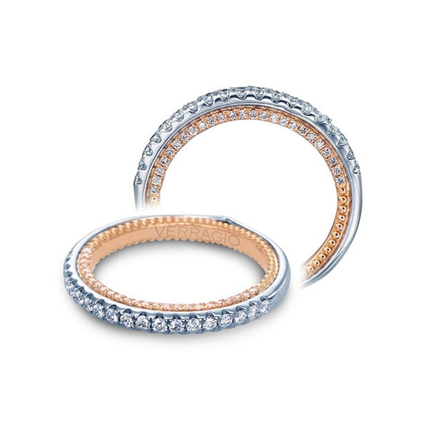 Verragio Couture 18K Two Tone Pave Diamond Wedding Band ENG-0459DW-2WR