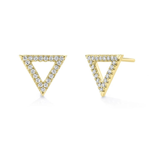 Michael M Diamond Triangle Earrings ER279