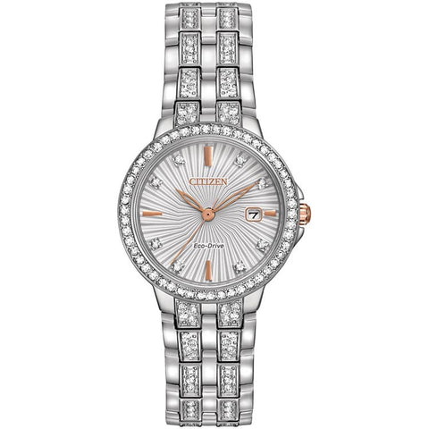 Citizen Silhouette Crystal Stainless Steel Bracelet Women's Watch EW2340-58A
