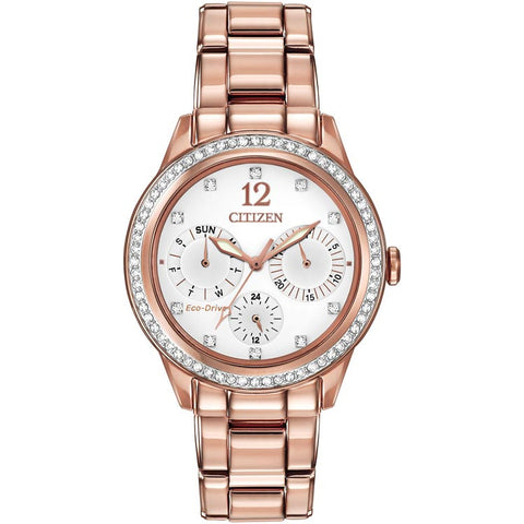 Citizen Silhouette Crystal Pink Gold-Tone Bracelet Women's Watch FD2013-50A