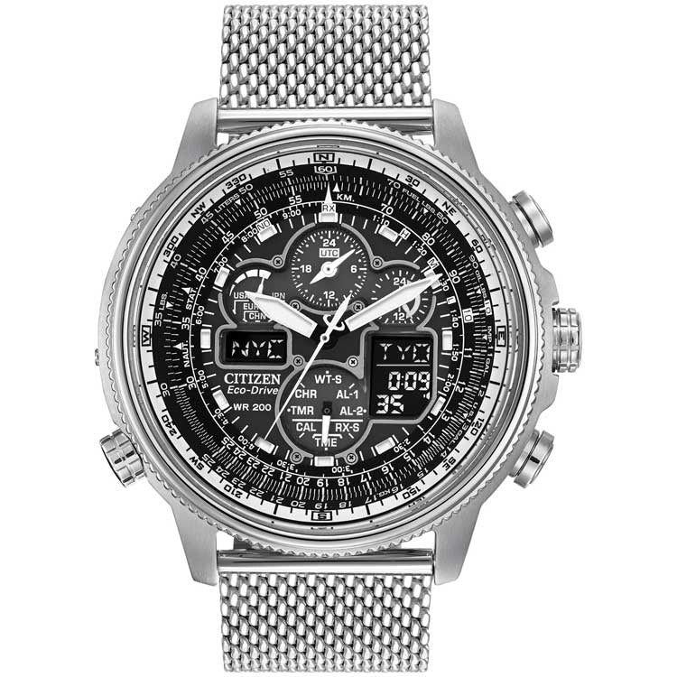 Citizen Navihawk A-T Stainless Steel Bracelet Men's Watch JY8030-83E