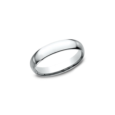 Benchmark Comfort Fit 14K White Gold 4MM Wedding Band LCF14014KW