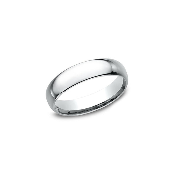 Benchmark Comfort Fit 14K White Gold 5MM Wedding Band LCF15014KW