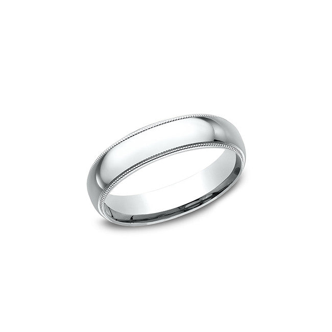Benchmark Comfort Fit 14K White Gold 5MM Men's Wedding Band LCF35014KW