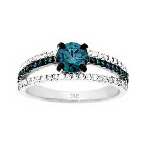 Sandra Biachi Blue and White Diamond Ring LP6210BD
