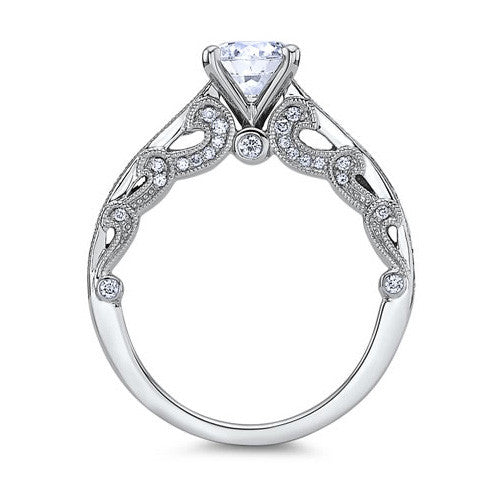 Scott Kay 14K White Gold Handcrafted Engagement Ring M2081R310