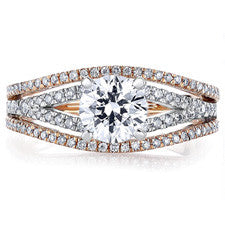 Scott Kay 14K White & Rose Gold Diamond Ring M2232R510