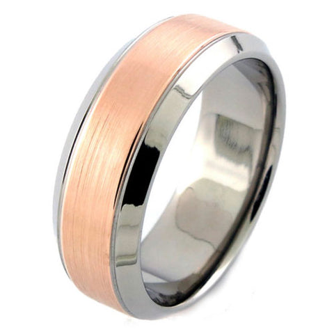 Michael M Two-Tone Men's Wedding Band MB111
