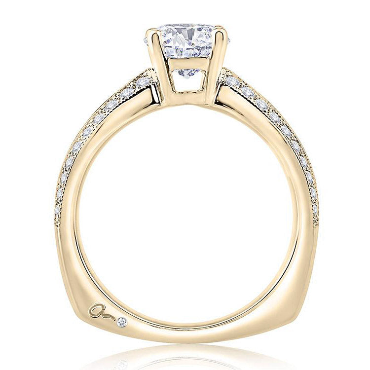 A.JAFFE Metropolitan 18K Yellow Gold Diamond Engagement Ring MES896/125