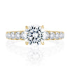 A.JAFFE Modern Diamond Pave Round Cut Diamond Engagement Ring MESRD2339/231