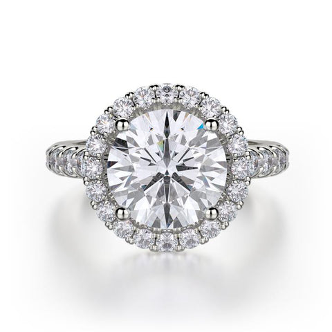 Michael M EUROPA Diamond Engagement Ring R320L-3